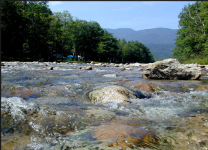 The Saco River in Maine is very clean.