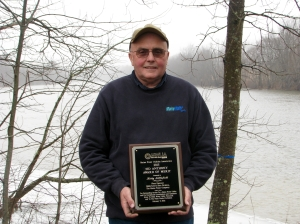 Kirby Littlefield with the Sid Anthony Award of Merit