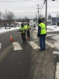 Maine Water technicians hunt for water main leaks